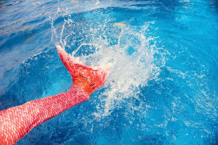 Meerjungfrauen-Schwimmen
